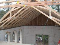 exposed scissor truss vaulted ceiling industrial design ...
