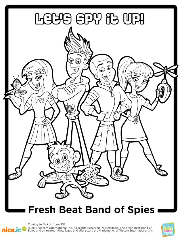 Secret Agents Free Coloring Pages