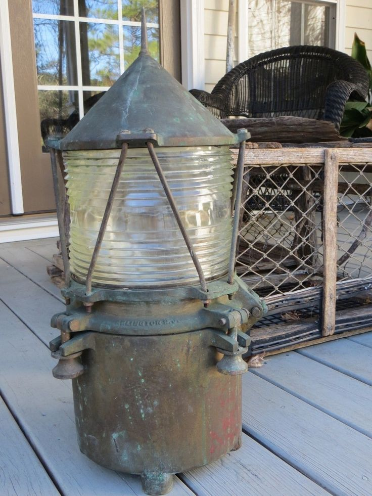 U s Coast Guard Lighthouse Bronze Brass Buoy Navigation Lantern Light  eBay  lighting lanterns