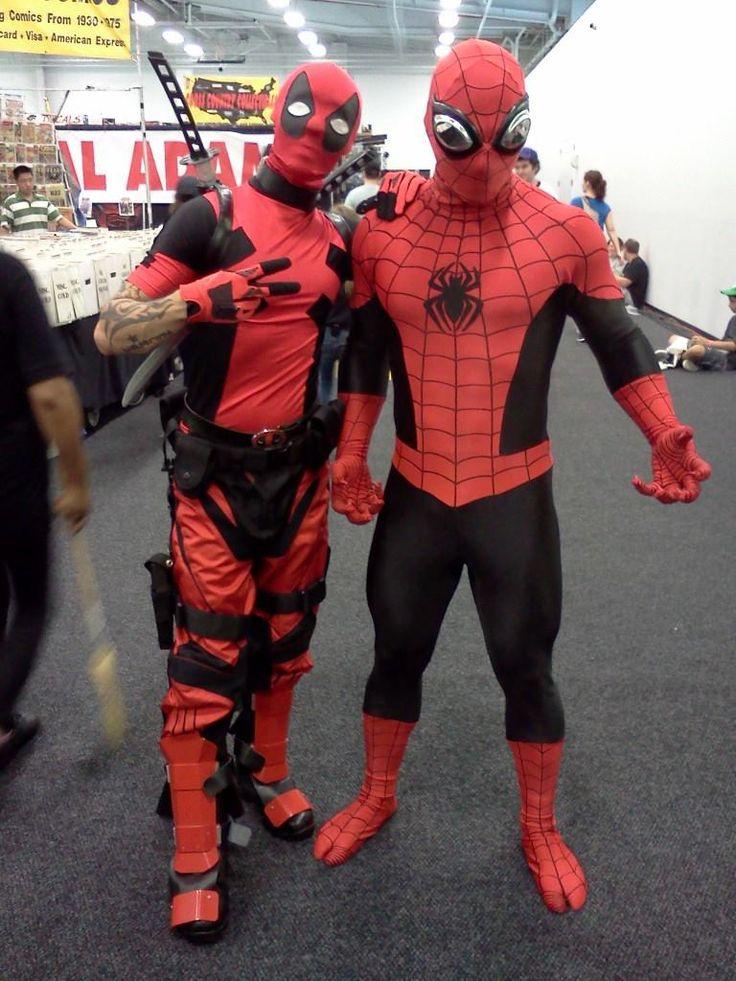 My Deadpool and Spiderman  Death and Deadpool Cosplay  Pinterest  Deadpool Spiderman and