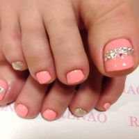 25+ Best Ideas about Coral Toe Nails on Pinterest | Summer ...