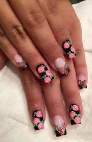 ideas rose nail art