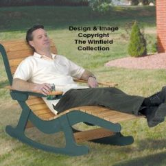 Patio Rocker Chair Where Can I Buy Cane For Chairs Chaise Lounge Wood Plans Stretch Out On This While You Enjoy Gentle Rocking ...