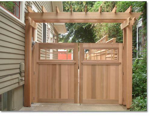 25+ best ideas about Wood fence gates on Pinterest