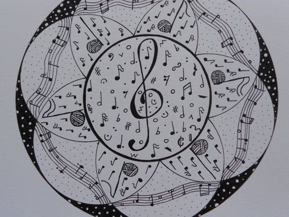 Music art home decor Mandala wall hanging by