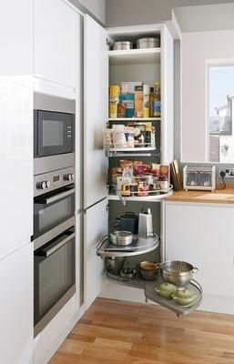 Extra Tall Corner Larder Tower Unit With Full Extension