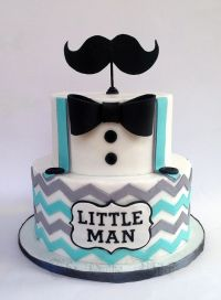 Little Man /Moustache Baby Shower Cake | The Cake Witch ...