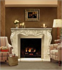 "62"" Chateau Series Louis XIII Cast Stone Fireplace Mantel ..."