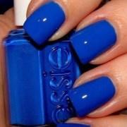pretty blue nails
