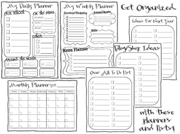 217 best images about Printables & Planners on Pinterest