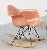 Vintage Eames RAR rocking chair in a perfectly faded hue