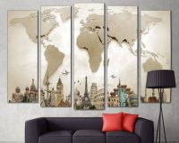 1000+ ideas about World Map Canvas on Pinterest | Map wall ...