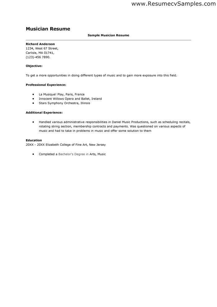 musician resume template  MUSICIAN RESUME  resumes