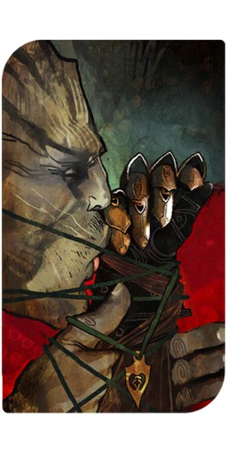 Dragon Age Inquisition Iron Bull romance tarot card