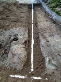 Day 3, New stormwater pipes bedded in sand | Paving and ...