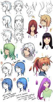 cell shading anime hair moni158