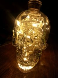 Upcycled Crystal Head Vodka Glass Skull Lamp Light (warm ...