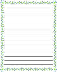 regular lined free printable stationery for kids, regular