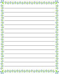 regular lined free printable stationery for kids, regular ...
