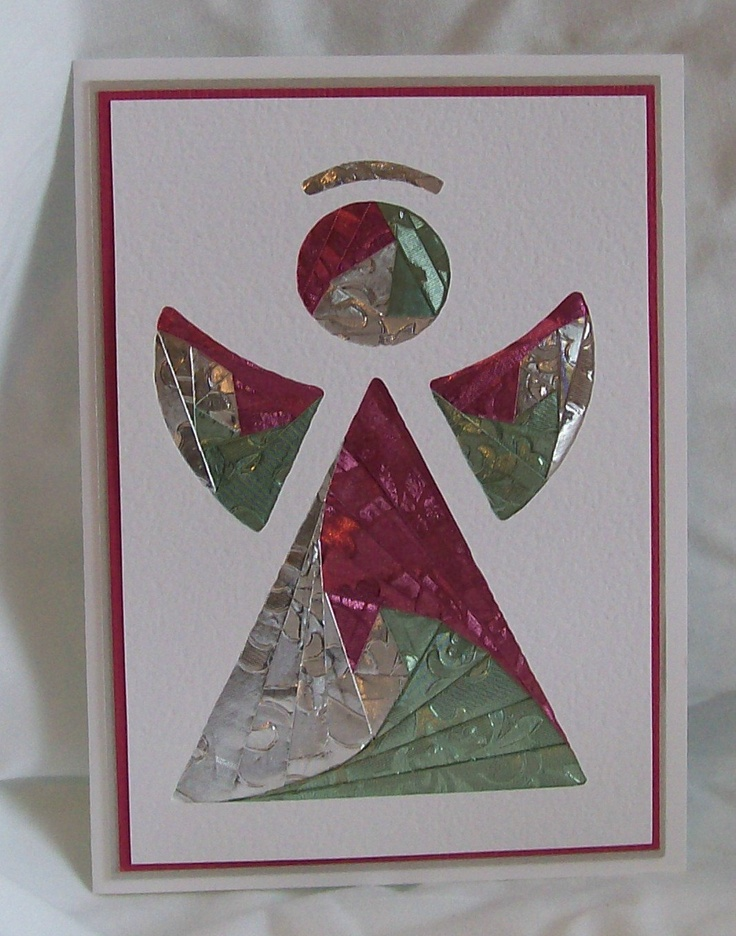 Angel Iris Folded Card Iris Folding Cards Pinterest