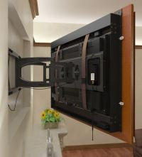 tv frames for wall mounted tvs | ... tv using a swing arm ...