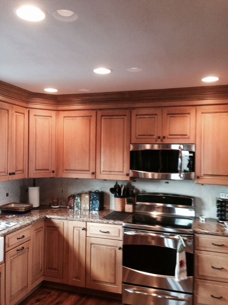 Maple cabinets with quartz countertops  Kitchen remodels  Pinterest  Drawer pulls Drawers