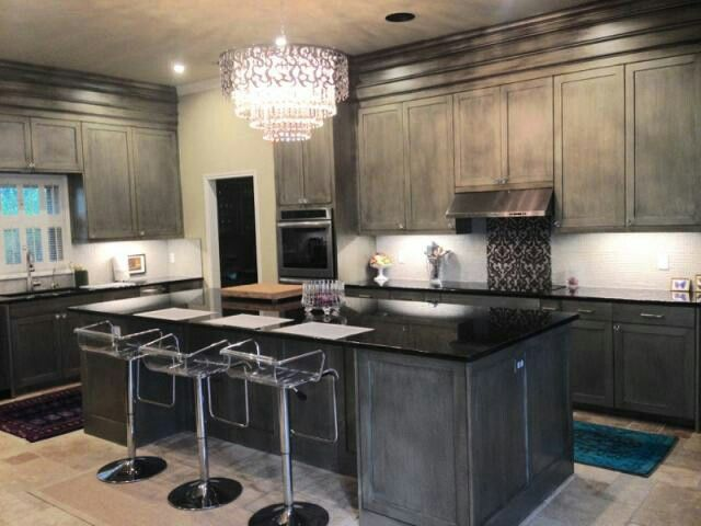 Metallic Silver Kitchen Cabinets by Holly Simonson