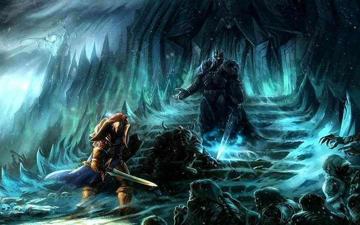 Fall Of The Lich King Wallpaper Bolvar And Dranosh Vs Lich King World Of Warcraft