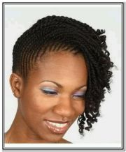 two strand twist updo natural hair