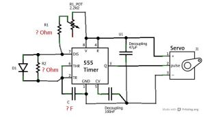Servo tester by 555 timer » Current Projects   Electronics
