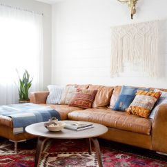Small Living Room With Sectional Couch Design Ideas Simple Room, Vintage Rug, Leather Sectional, Sofa ...