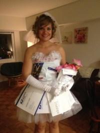 DIY Mail Order Bride costume out of envelopes & bubblewrap ...