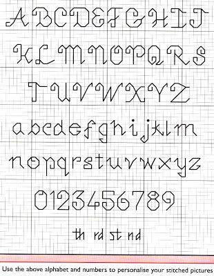 426 best Cross stitch alphabet images on Pinterest