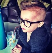 cool kid geek glasses baby boy
