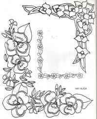 Bordes con flores para pintar - Imagui