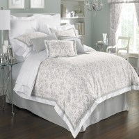 Gray & white comforter set