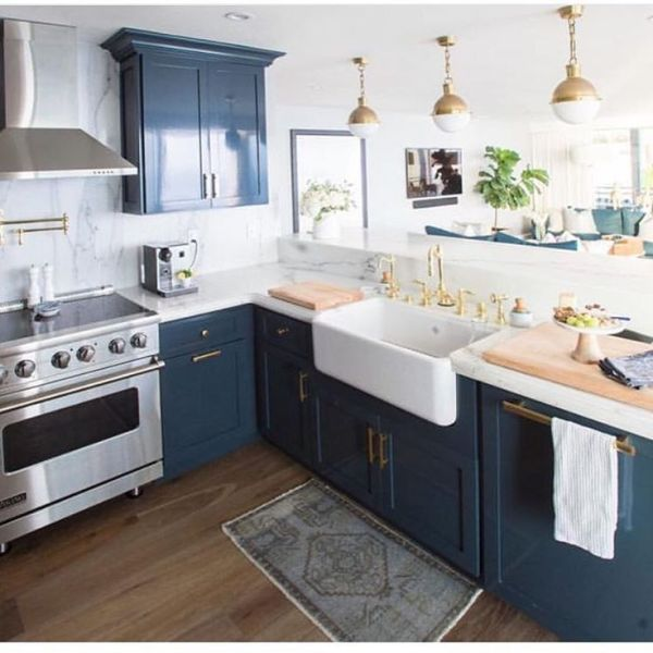 blue and white kitchen cabinet ideas A mother & daughter team obsessed dedicated to defining