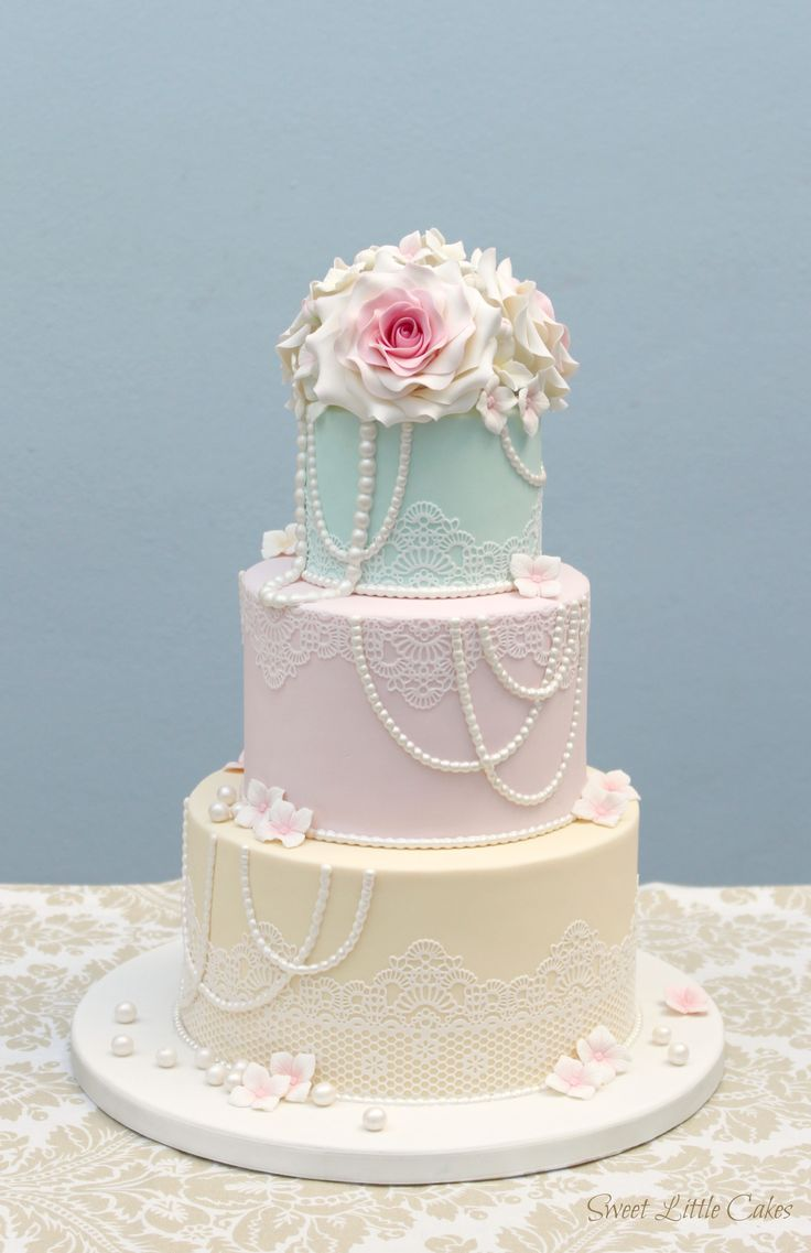 But with ombre pink pastels on each tier  pastel wedding cakes  Pinterest  Vintage style