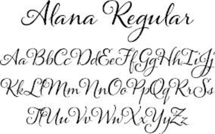 Alana Font Alphabet