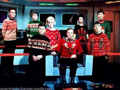 Hahaha An Ugly Christmas Sweater Party Star Trek Style