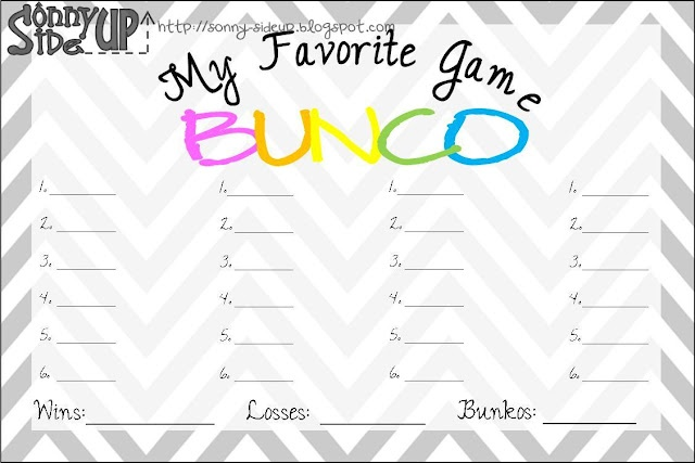 Bunko Score Sheet---ahhh, used to play monthly with my