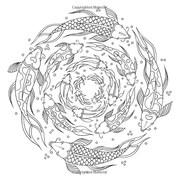 fish Ocean underwater sea Coloring pages colouring adult