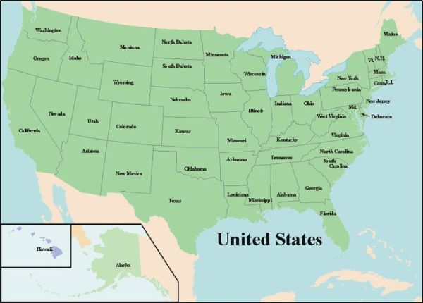 free map of usa Printable Map of USA Map of United
