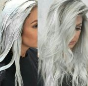 dyed white