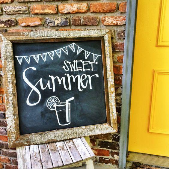 Best 20 Summer chalkboard ideas on Pinterest