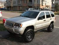 jeep wj black wheels angel eyes front ligths and roof rack ...