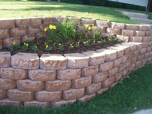 front yard retaining wall ideas