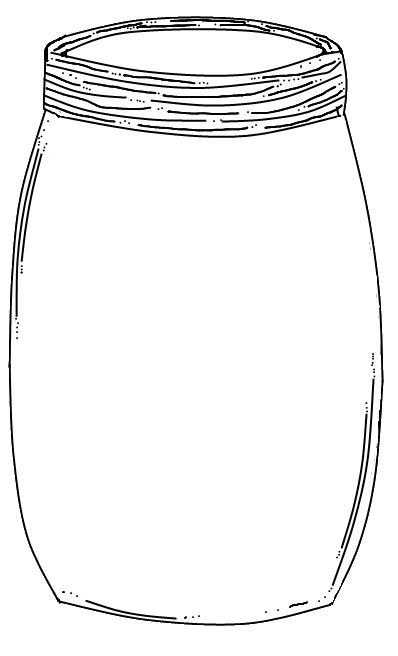 Free printable Mason Jar, for finger print bugs...press
