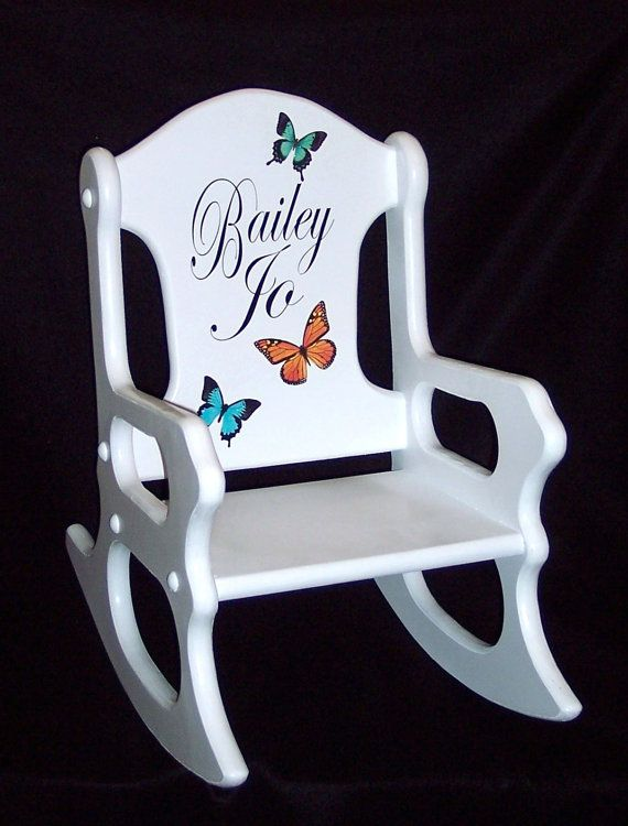 little rocking chairs for toddlers laugh learn musical learning chair personalized kids gift- toddler with butterflies | chairs, kid and