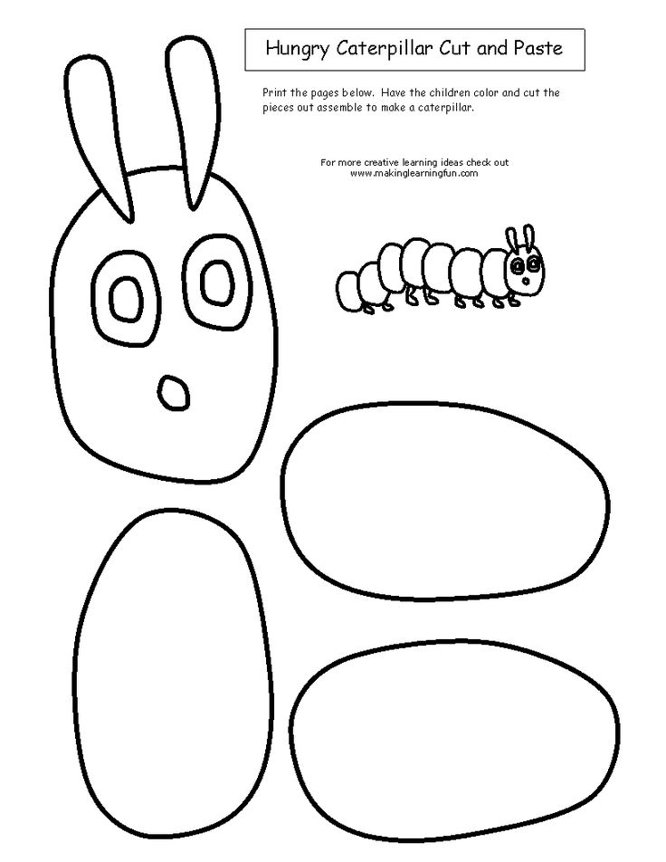 THE VERY HUNGRY CATERPILLAR ACTIVITY: Write Spelling word